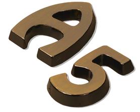 Litery i cyfry na drzwi, budynki, nagrobki - Hobo standard |HS