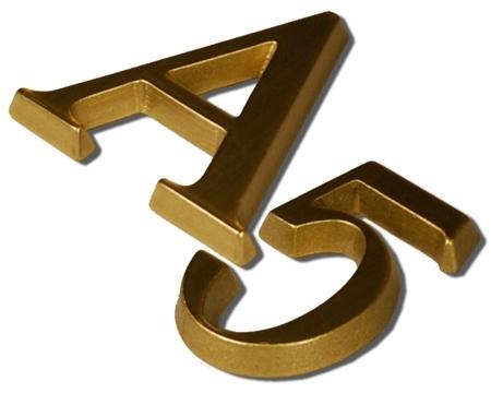Litery i cyfry na drzwi, budynki, nagrobki - Toronto żółte |TY (1)