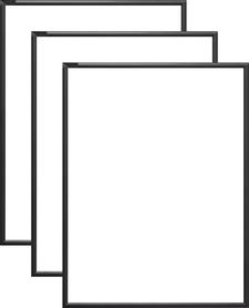 Rama aluminiowa, kolor czarny półmat |AL1-2