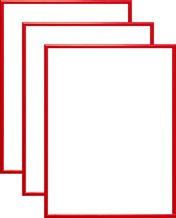 Rama aluminiowa, kolor czerwony  AL1-3 (1)