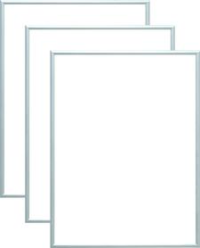 Rama aluminiowa, kolor srebrna satyna |AL1-10