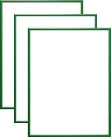 Rama aluminiowa, kolor zielony |AL1-5