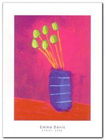 Stripy Vase plakat obraz 30x40cm