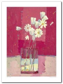 Fuchsia And Daisies plakat obraz 30x40cm