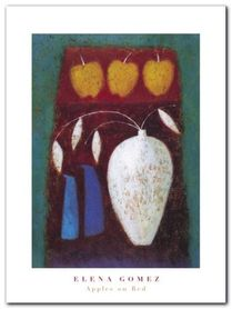 Apples On Red plakat obraz 30x40cm