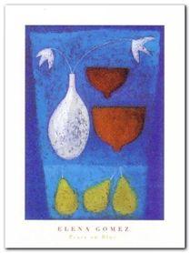 Pears On Blue plakat obraz 30x40cm
