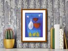 Pears On Blue plakat obraz 30x40cm (3)