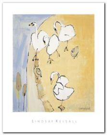 Swans plakat obraz 40x50cm