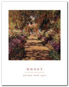 Garden Path, Giverny plakat obraz 40x50cm