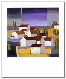 Village Near The Sea plakat obraz 50x60cm