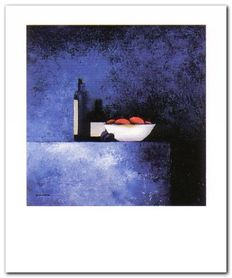Still Live In Blue I plakat obraz 50x60cm