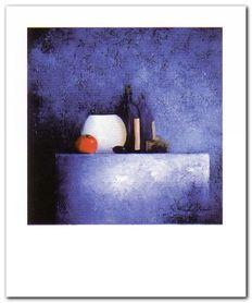 Still Live In Blue II plakat obraz 50x60cm
