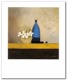 Blue Bottle plakat obraz 50x60cm