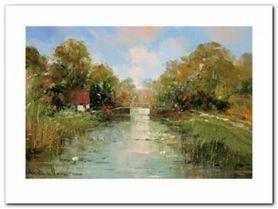Aan De Waterkant II plakat obraz 40x30cm