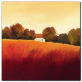 Scarlet Landscape IV plakat obraz 20x20cm