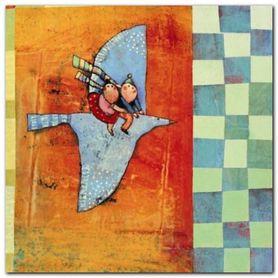 Fly Fly My Plane plakat obraz 20x20cm