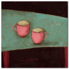 Pink Cups plakat obraz 20x20cm
