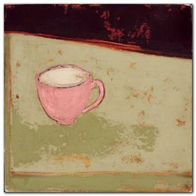 One Pink Cup plakat obraz 20x20cm