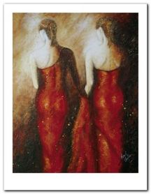 Ladies In Red plakat obraz 70x90cm