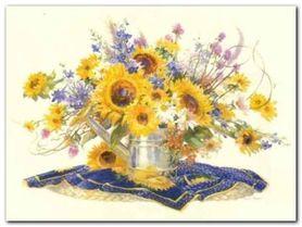 Sunflower Extravaganza plakat obraz 80x60cm
