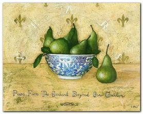 Pears From The Orchard plakat obraz 50x40cm