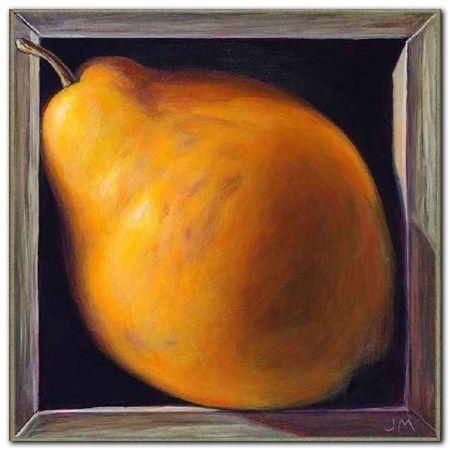 Boxed Whole Pear plakat obraz 38x38cm (1)