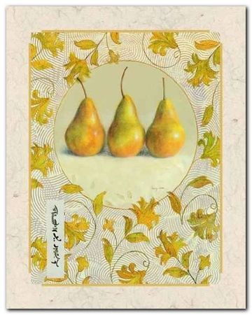 Ornamental Pears plakat obraz 40x50cm (1)