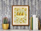 Ornamental Pears plakat obraz 40x50cm (3)
