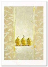 Leaves & Pears plakat obraz 50x70cm