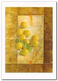 Golden Lemons plakat obraz 50x70cm