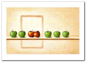 Jabłka plakat obraz 70x50cm