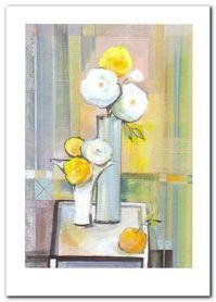 Wazon Z Kwiatami II plakat obraz 50x70cm