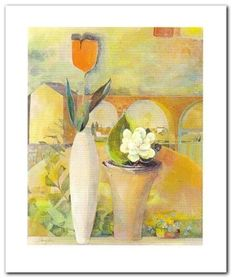 Wazon z kwiatami IV plakat obraz 50x60cm