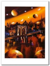 Manhattan plakat obraz 90x120cm