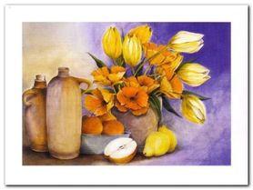 Kwiaty I plakat obraz 40x30cm