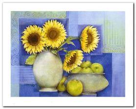 Kwiaty W Wazonie I plakat obraz 50x40cm