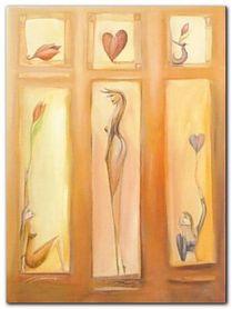 Dancing Hearts plakat obraz 60x80cm