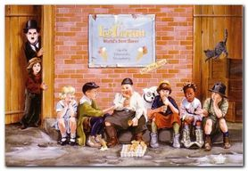 Ice Cream plakat obraz 65x45cm