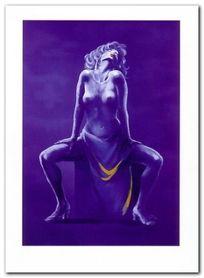 Blue Woman plakat obraz 88x120cm