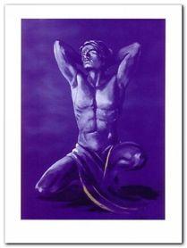 Blue Man plakat obraz 90x120cm