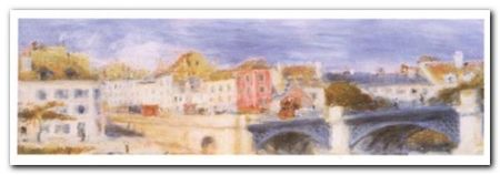 Le Pont A Chatu plakat obraz 100x35cm (1)