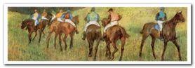 Racehorses plakat obraz 100x35cm