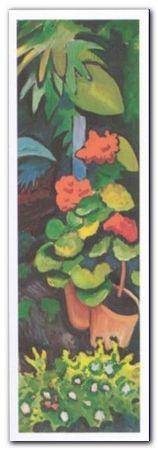 Blumen In Garten plakat obraz 35x100cm (1)