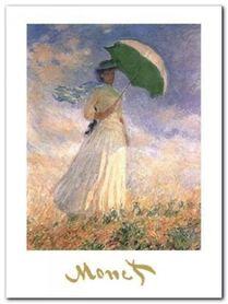 Woman With Sunshade plakat obraz 60x80cm