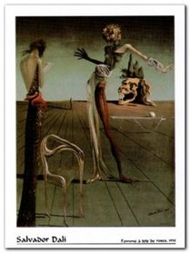 Femme A Tete De Roses plakat obraz 60x80cm