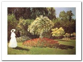 Signora In Giardino plakat obraz 80x60cm
