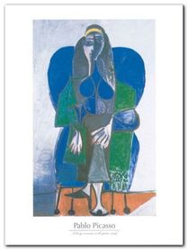 Sitting woman plakat obraz 60x80cm