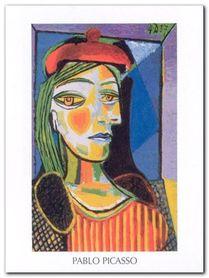 Femme au beret rouge plakat obraz 60x80cm