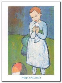 Femme au pigeon plakat obraz 60x80cm