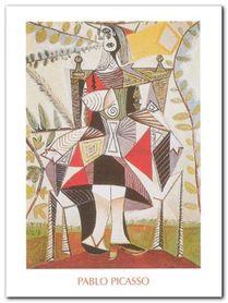 Femme au jardin plakat obraz 60x80cm